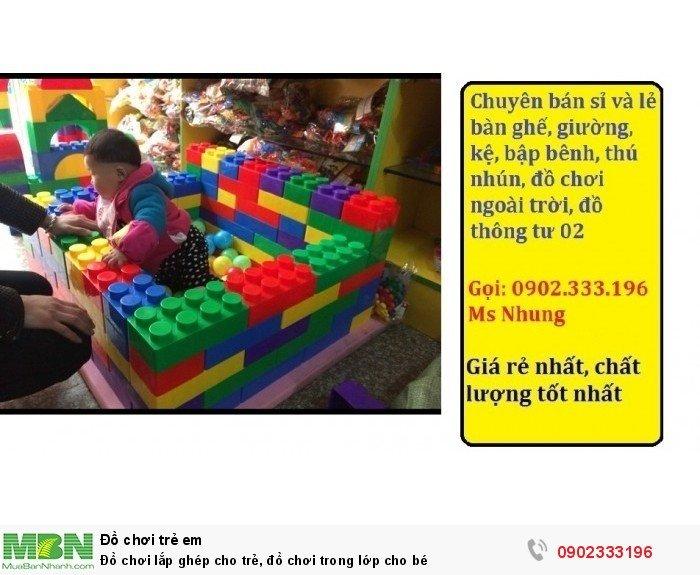 Đồ chơi lắp ghép cho trẻ, đồ chơi trong lớp cho bé