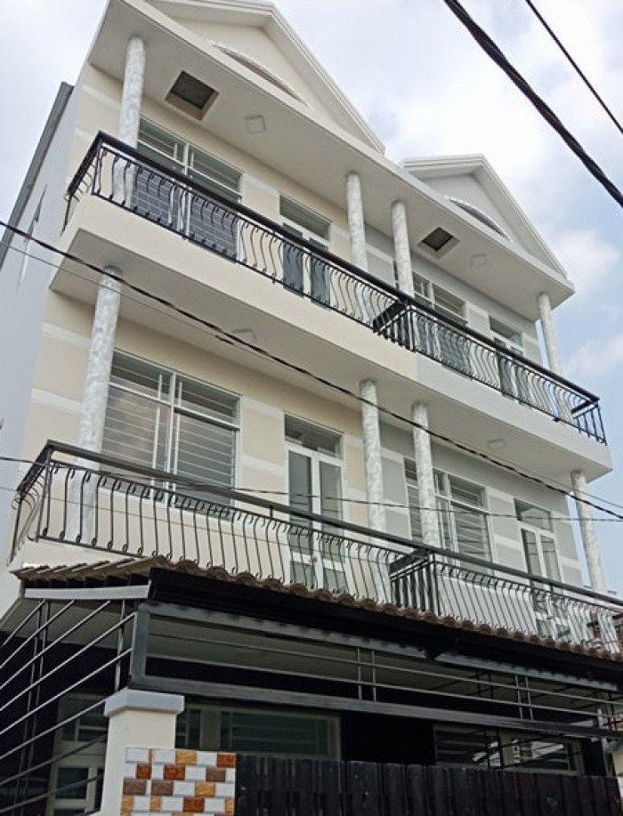 Nhà 3 lầu, Phước Kiển, Nhà Bè, DT 110m2, hẻm xe hơi.