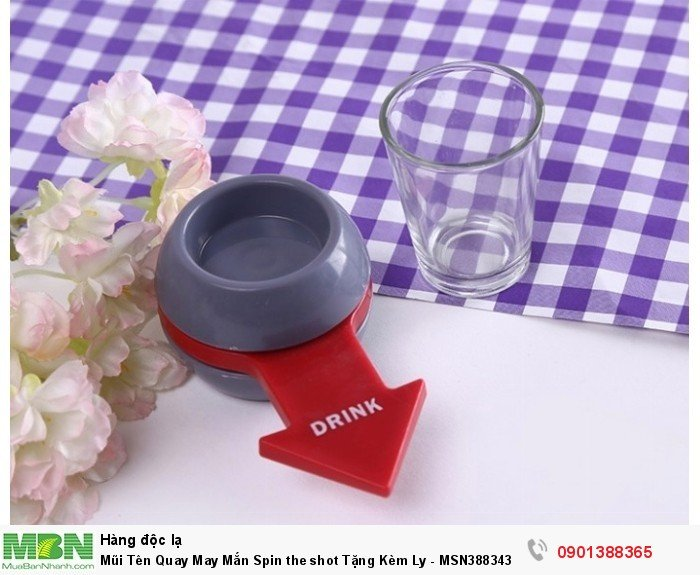 Mũi Tên Quay May Mắn Spin the shot Tặng Kèm Ly - MSN388343