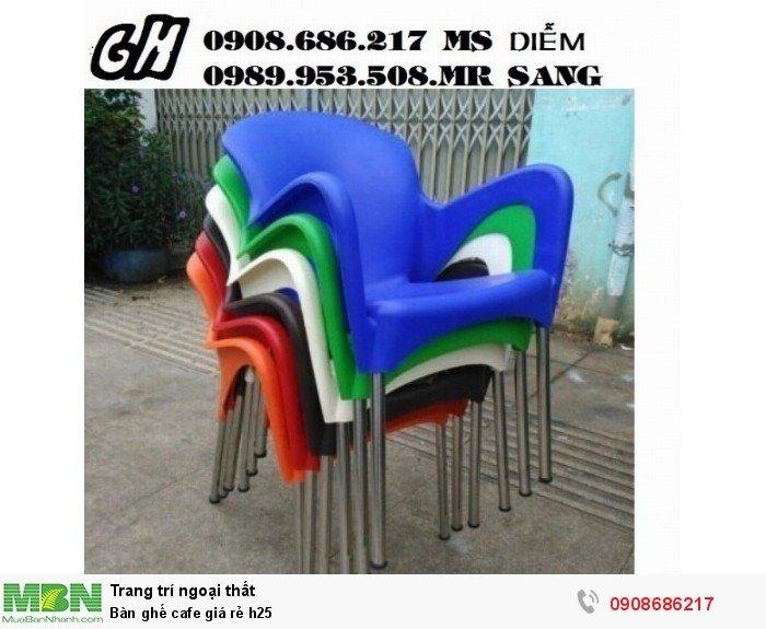 Bàn ghế cafe giá rẻ h250