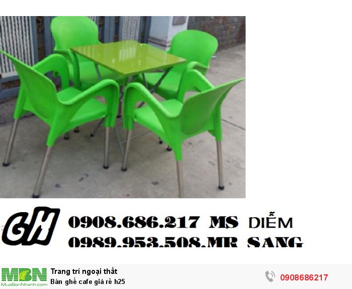 Bàn ghế cafe giá rẻ h252