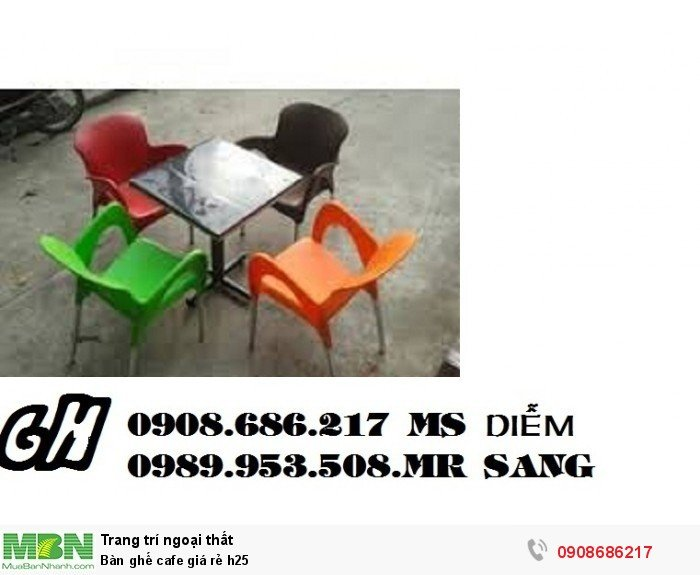 Bàn ghế cafe giá rẻ h254