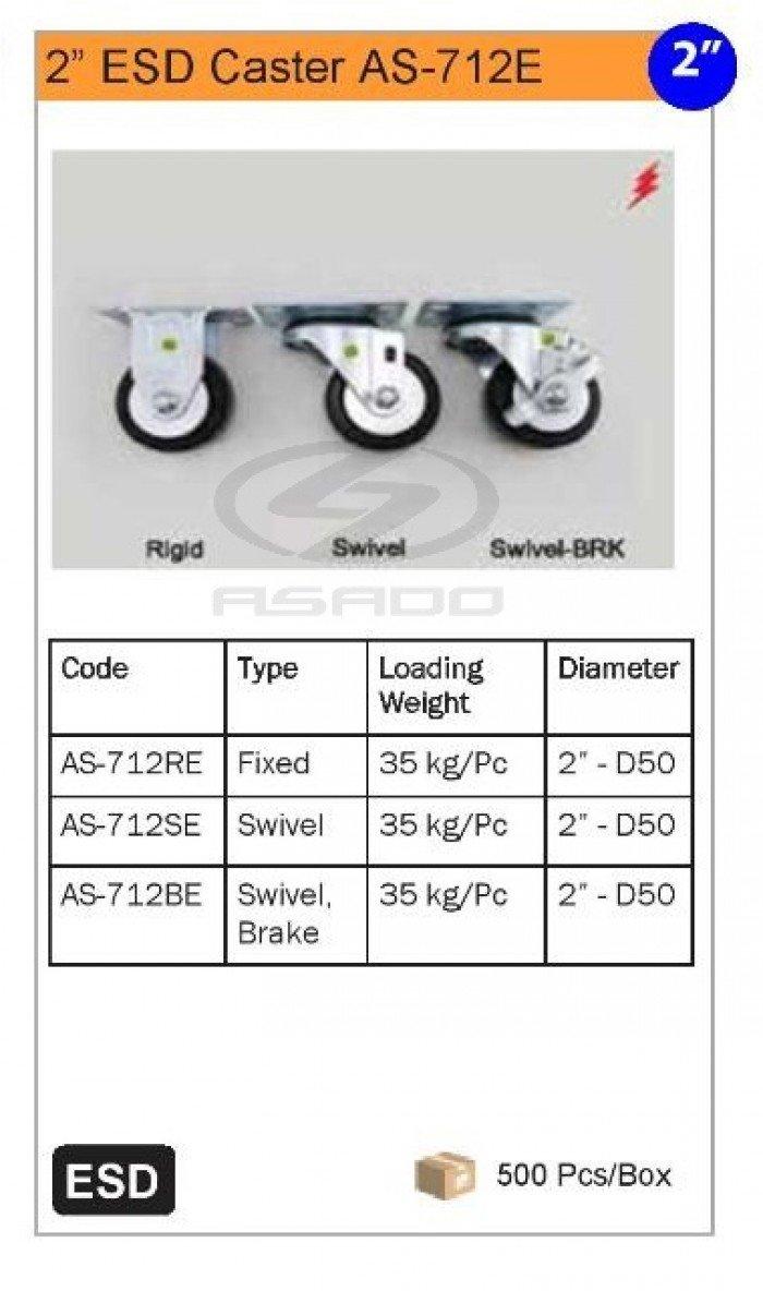 Bánh xe ESD dùng cho các loại bàn thao tác, xe đẩy, giá đỡ