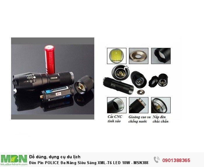 Đèn Pin Đa Năng Siêu Sáng XML-T6 LED 10W - MSN388344