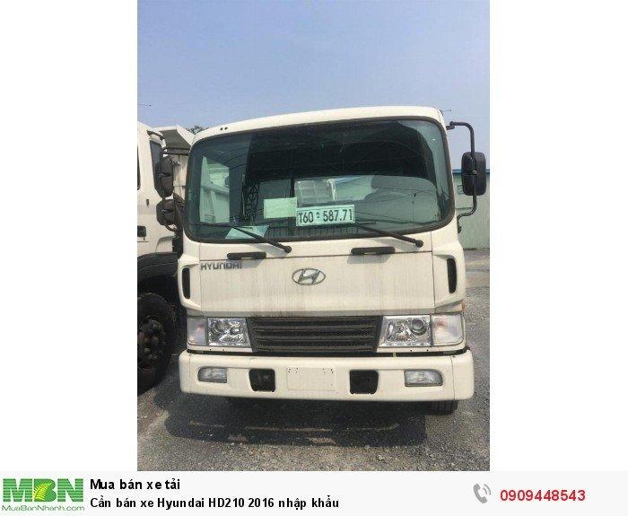Cần bán xe Hyundai HD210 2016 nhập khẩu