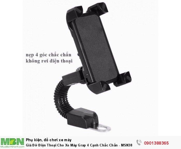 Giá Đỡ Điện Thoại Cho Xe Máy Grap 4 Cạnh Chắc Chắn - MSN388345