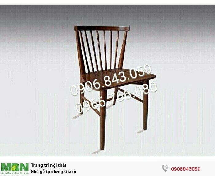 Ghế gỗ tựa lưng Giá rẻ0
