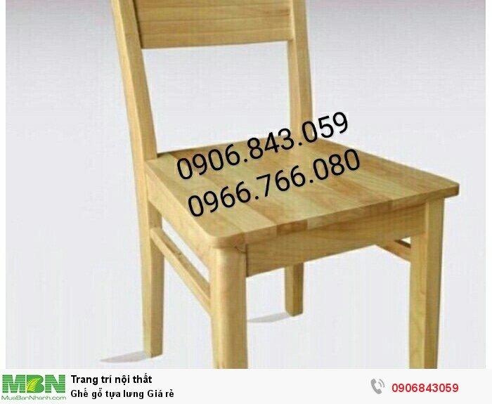 Ghế gỗ tựa lưng Giá rẻ2