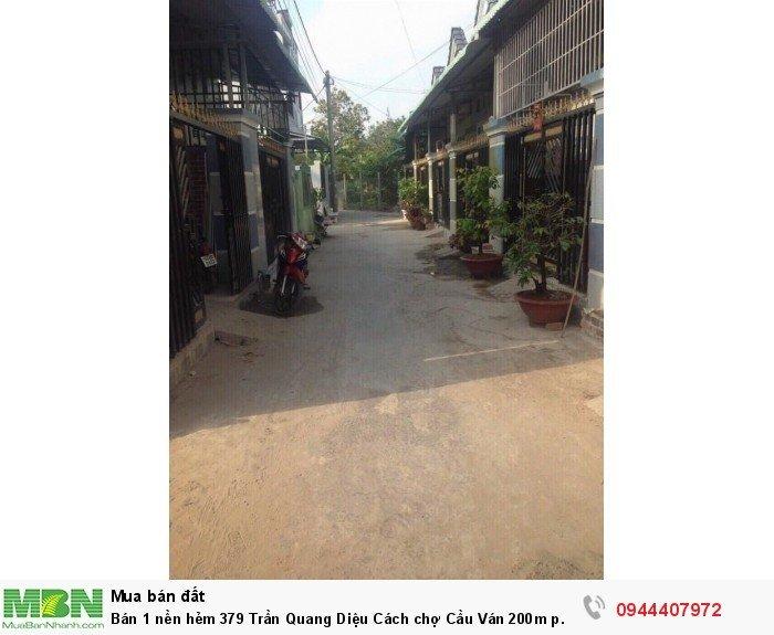 Bán 1 nền hẻm 379 Trần Quang Diệu Cách chợ Cầu Ván 200m p. An Thới q. Bình Thủy