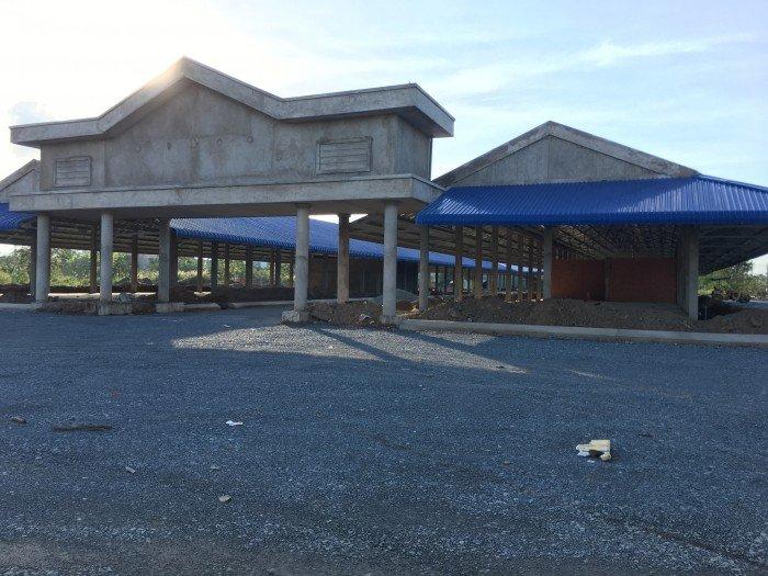 Đất mặt tiền đường ĐT 833B lộ giới 40m, đối diện chợ Long Cang, SHR, 969 tr/115m2
