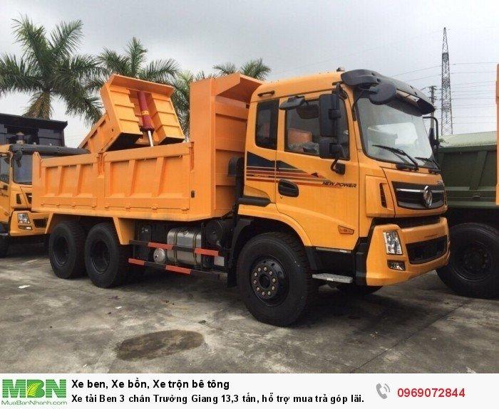 Xe tải Ben 3 chân Trường Giang 13,3 tấn, hỗ trợ mua trả góp lãi xuất thấp