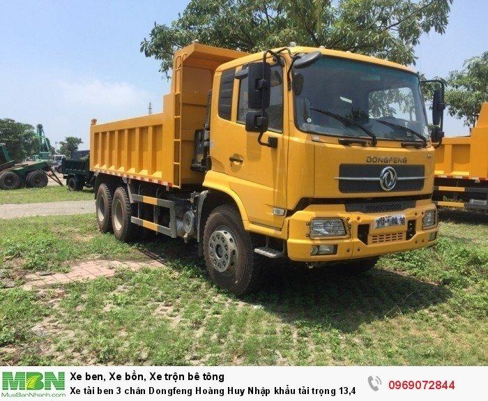 Xe tải ben 3 chân Dongfeng Hoàng Huy Nhập khẩu tải trọng 13,4T, Hỗ trợ mua xe trả góp 1