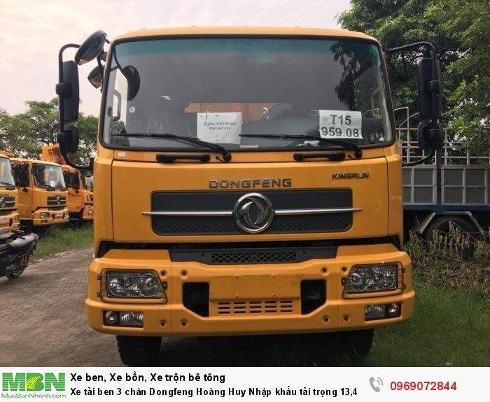 Xe tải ben 3 chân Dongfeng Hoàng Huy Nhập khẩu tải trọng 13,4T, Hỗ trợ mua xe trả góp 4