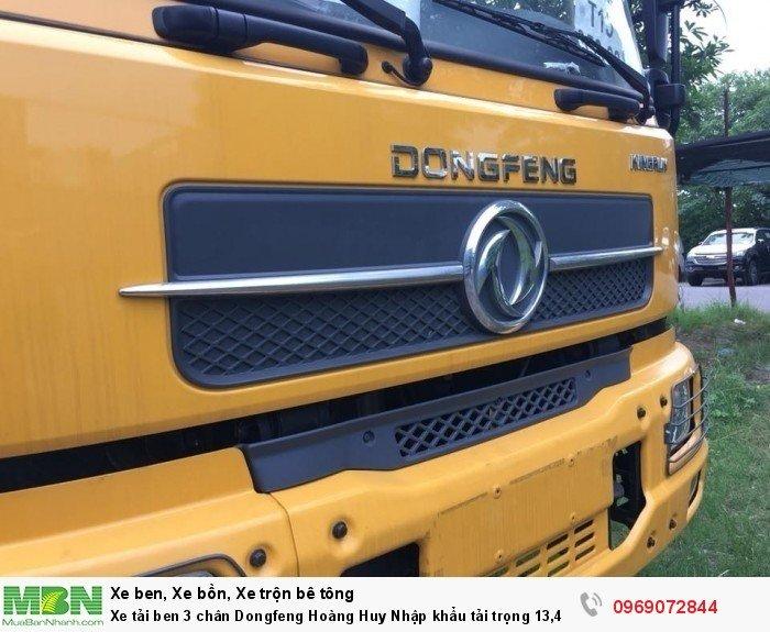 Xe tải ben 3 chân Dongfeng Hoàng Huy Nhập khẩu tải trọng 13,4T, Hỗ trợ mua xe trả góp 5