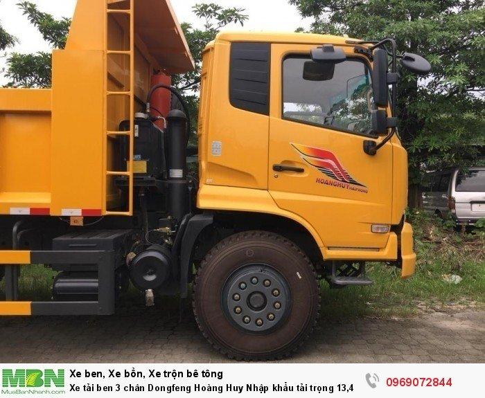Xe tải ben 3 chân Dongfeng Hoàng Huy Nhập khẩu tải trọng 13,4T, Hỗ trợ mua xe trả góp 7