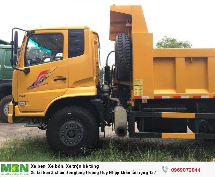 Xe tải ben 3 chân Dongfeng Hoàng Huy Nhập khẩu tải trọng 13,4T, Hỗ trợ mua xe trả góp 8