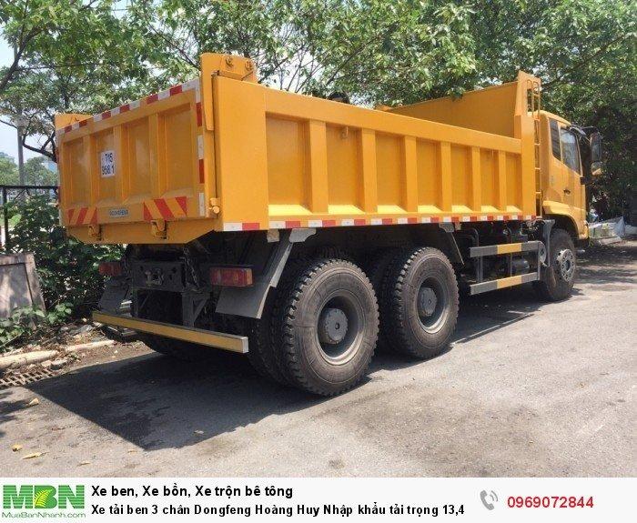 Xe tải ben 3 chân Dongfeng Hoàng Huy Nhập khẩu tải trọng 13,4T, Hỗ trợ mua xe trả góp 9