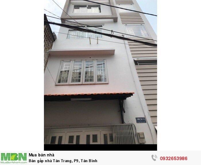 Bán gấp nhà Tân Trang, P9, Tân Bình