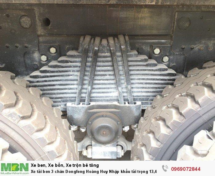 Xe tải ben 3 chân Dongfeng Hoàng Huy Nhập khẩu tải trọng 13,4T, Hỗ trợ mua xe trả góp 14
