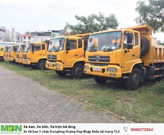Xe tải ben 3 chân Dongfeng Hoàng Huy Nhập khẩu tải trọng 13,4T, Hỗ trợ mua xe trả góp 19