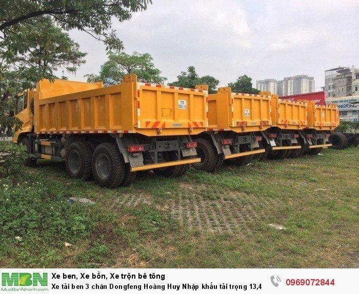 Xe tải ben 3 chân Dongfeng Hoàng Huy Nhập khẩu tải trọng 13,4T, Hỗ trợ mua xe trả góp 20