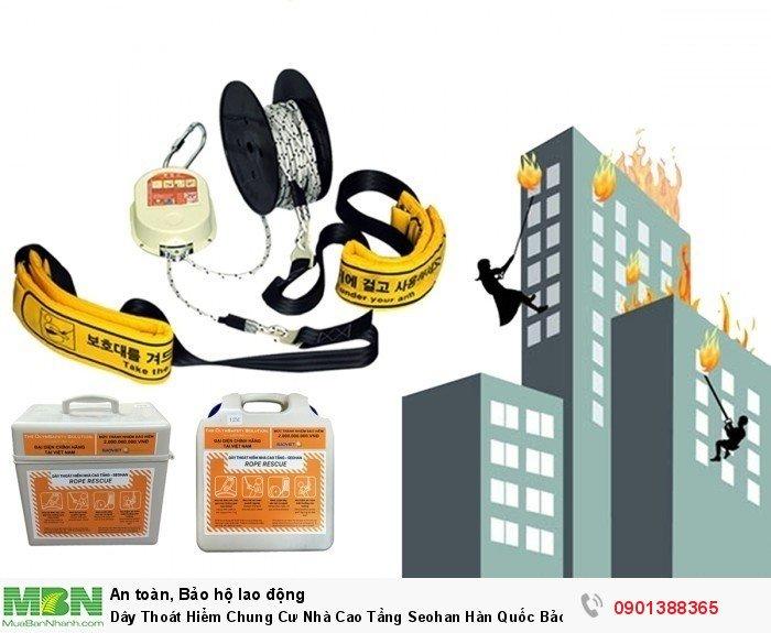 Dây thoát hiểm chống cháy Seohan mang lại giải pháp thoát hiểm khẩn cấp cho các hộ dân sống trong chung cư cao tầng nếu như chẳng may có hỏa hoạn xảy ra.