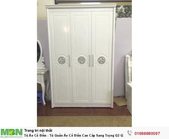 tủ quần áo tân cổ điển màu trắng1