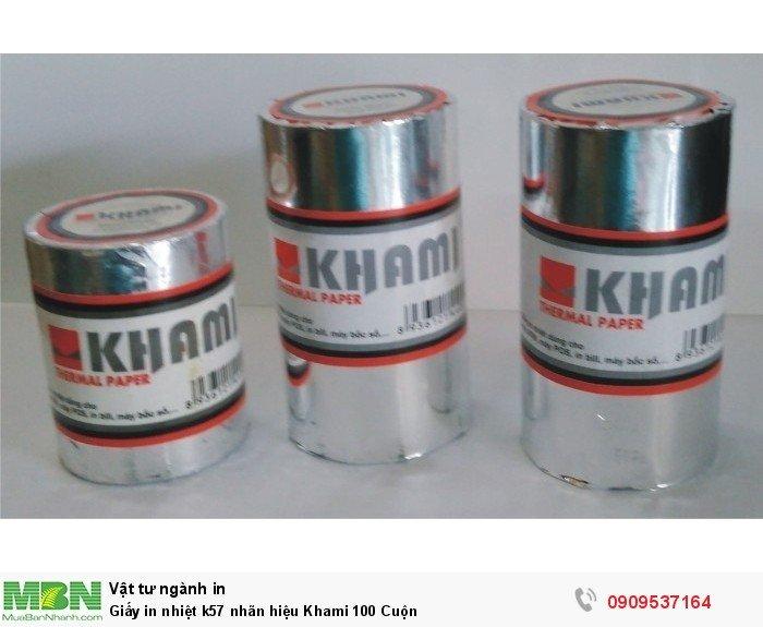 Giấy in nhiệt k57 nhãn hiệu Khami 100 Cuộn0