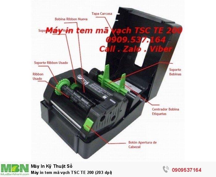 Máy in tem mã vạch TSC TE 200 (203 dpi)0