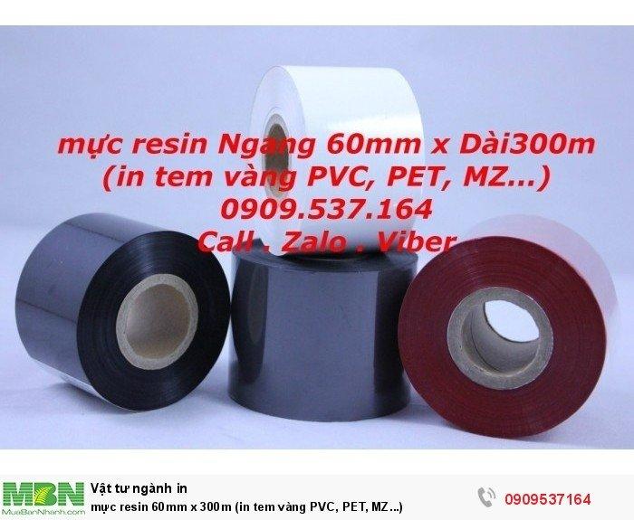 mực resin 60mm x 300m (in tem vàng PVC, PET, MZ...)1