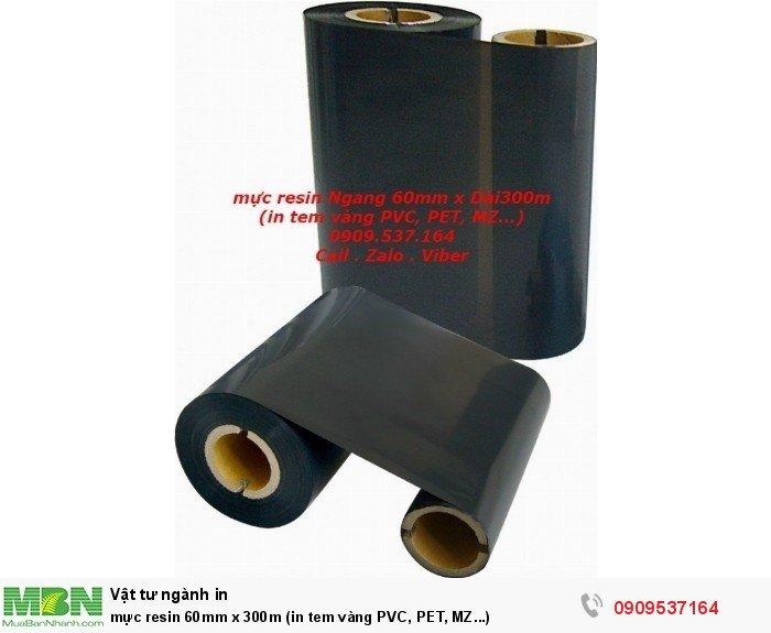 mực resin 60mm x 300m (in tem vàng PVC, PET, MZ...)3