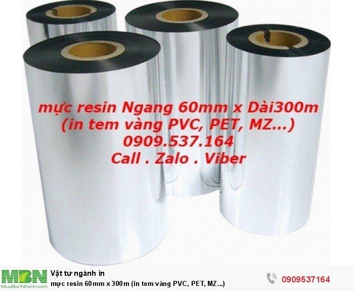 mực resin 60mm x 300m (in tem vàng PVC, PET, MZ...)4