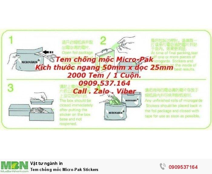 Tem chống mốc  Micro-Pak Stickers2