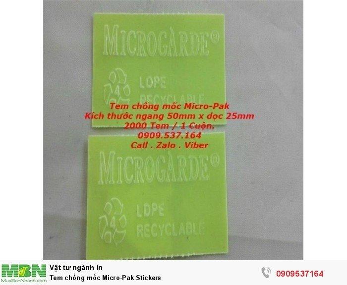 Tem chống mốc  Micro-Pak Stickers4