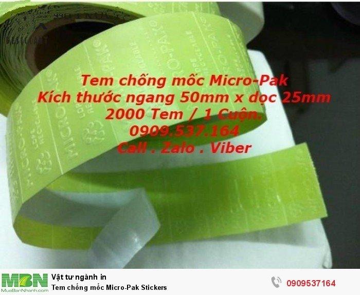 Tem chống mốc  Micro-Pak Stickers5