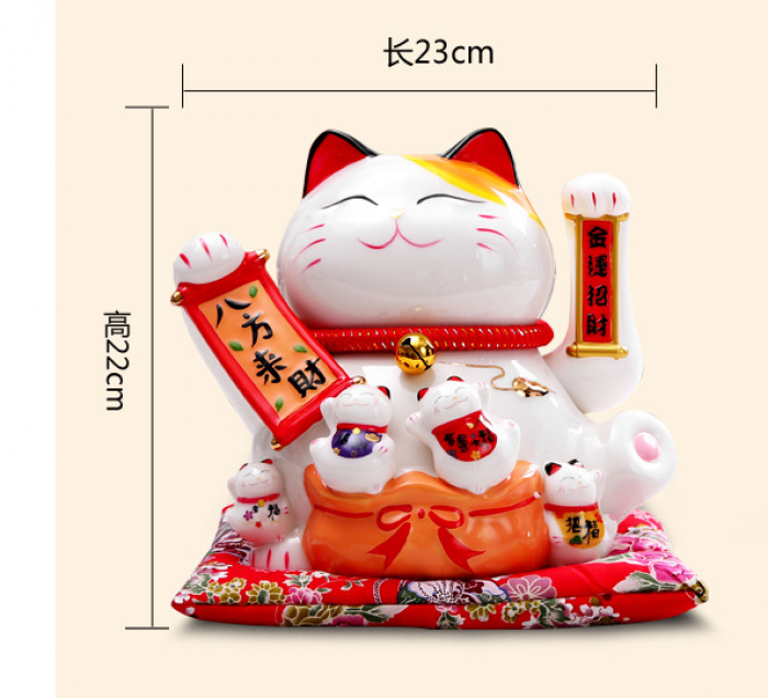 Mèo thần tài may mắn vẫy tay Neko Nhật Bản10