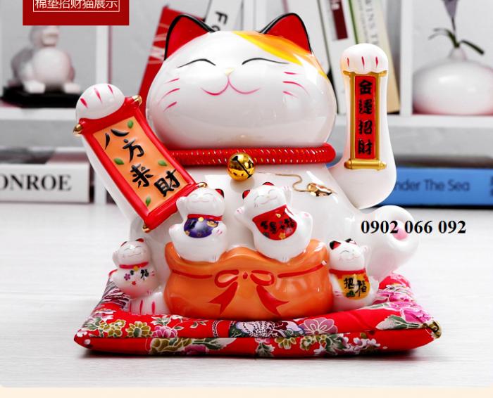 Mèo thần tài may mắn vẫy tay Neko Nhật Bản7