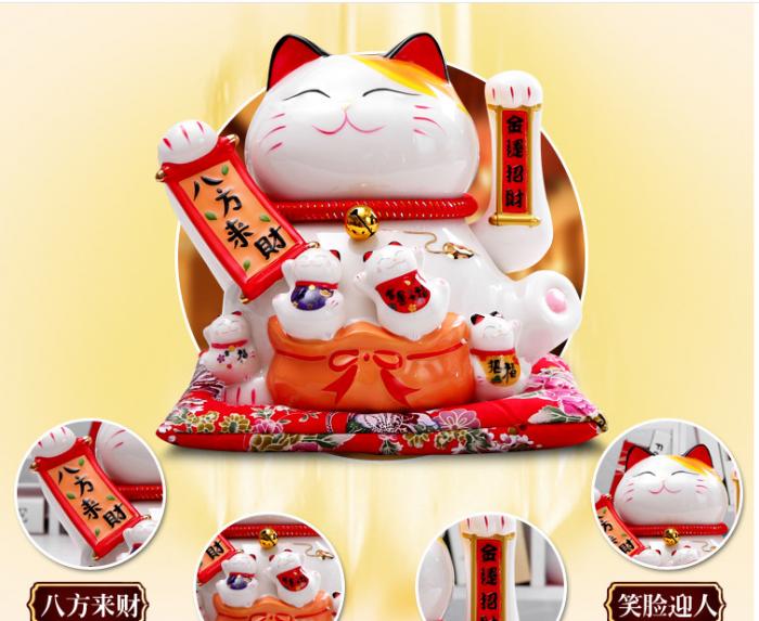 Mèo thần tài may mắn vẫy tay Neko Nhật Bản2