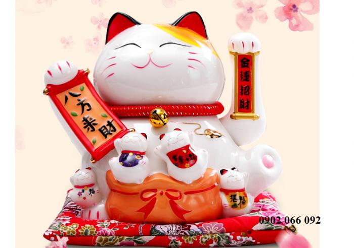 Mèo thần tài may mắn vẫy tay Neko Nhật Bản5