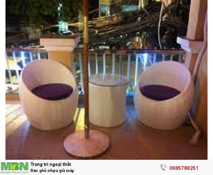 Bàn ghế nhựa giả mây3