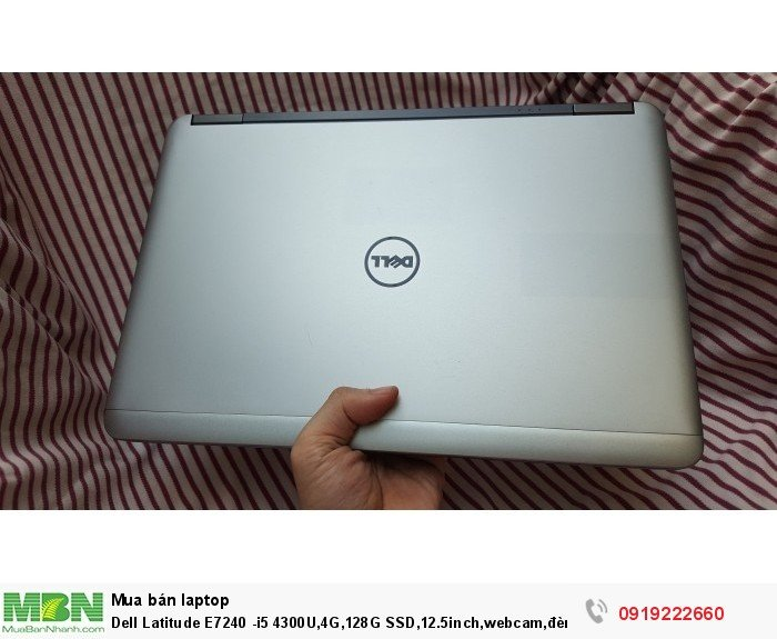 Dell Latitude E7240 -i5 4300U,4G,128G SSD,12.5inch,webcam,đèn bàn phím6