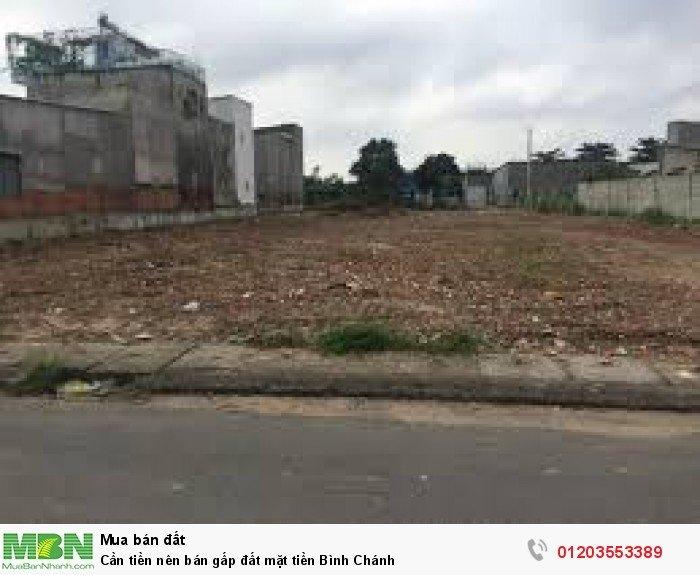 Cần tiền nên bán gấp đất mặt tiền Bình Chánh