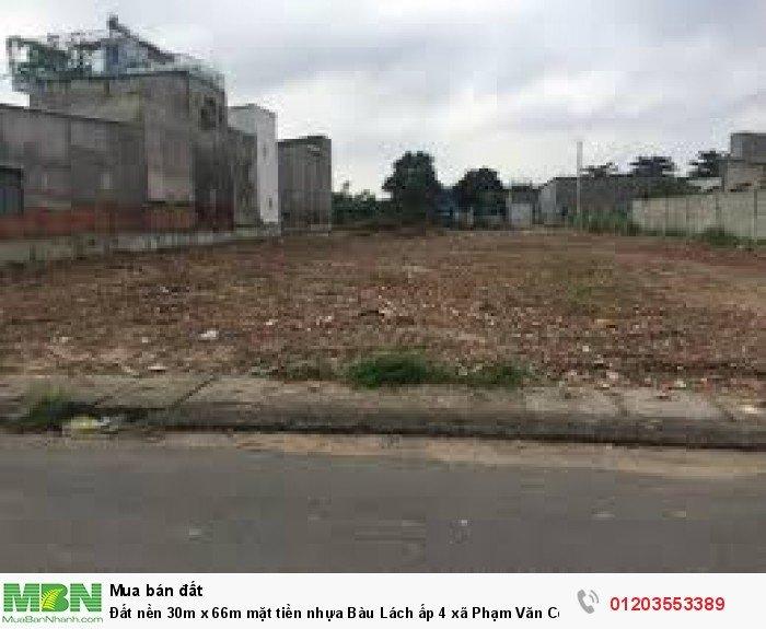 Đất nền 30m x 66m mặt tiền nhựa Bàu Lách ấp 4 xã Phạm Văn Cội, Củ Chi