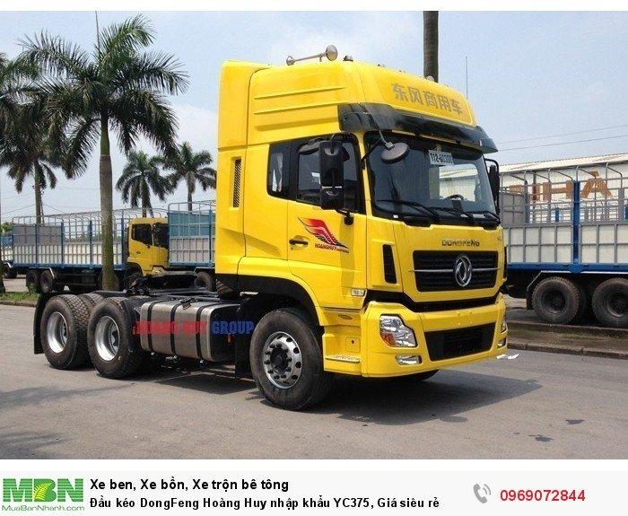 Đầu kéo DongFeng Hoàng Huy nhập khẩu YC375, Giá siêu rẻ 0