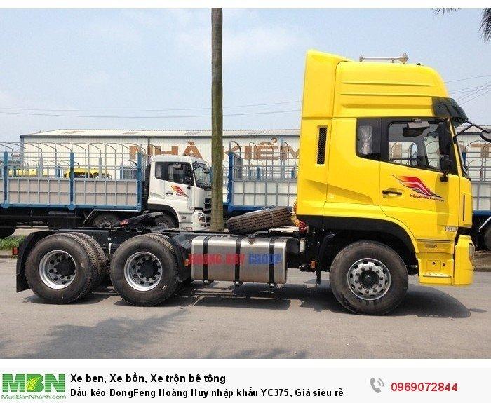 Đầu kéo DongFeng Hoàng Huy nhập khẩu YC375, Giá siêu rẻ 2