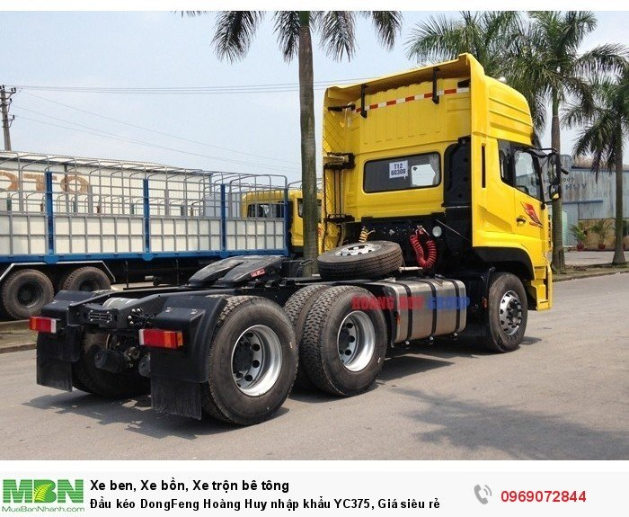 Đầu kéo DongFeng Hoàng Huy nhập khẩu YC375, Giá siêu rẻ 3