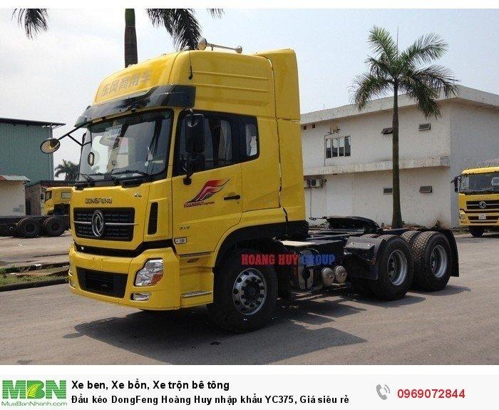 Đầu kéo DongFeng Hoàng Huy nhập khẩu YC375, Giá siêu rẻ 4