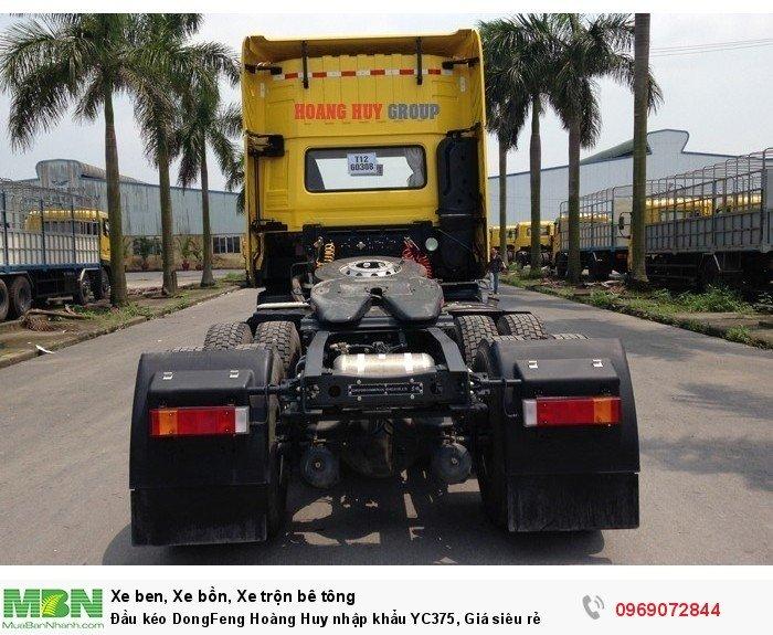 Đầu kéo DongFeng Hoàng Huy nhập khẩu YC375, Giá siêu rẻ 5