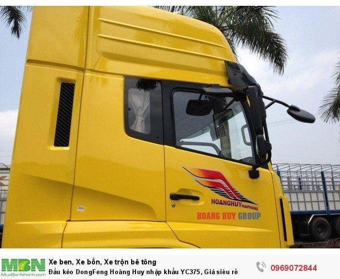 Đầu kéo DongFeng Hoàng Huy nhập khẩu YC375, Giá siêu rẻ 7