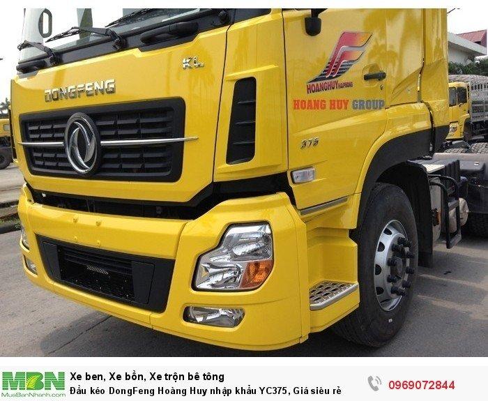 Đầu kéo DongFeng Hoàng Huy nhập khẩu YC375, Giá siêu rẻ 6